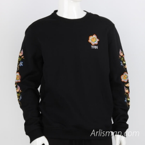 100%cotton sweater - embroid