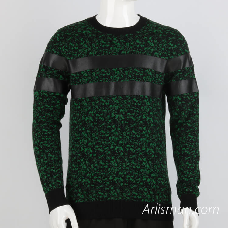 Rubber Printing Stripe Sweater
