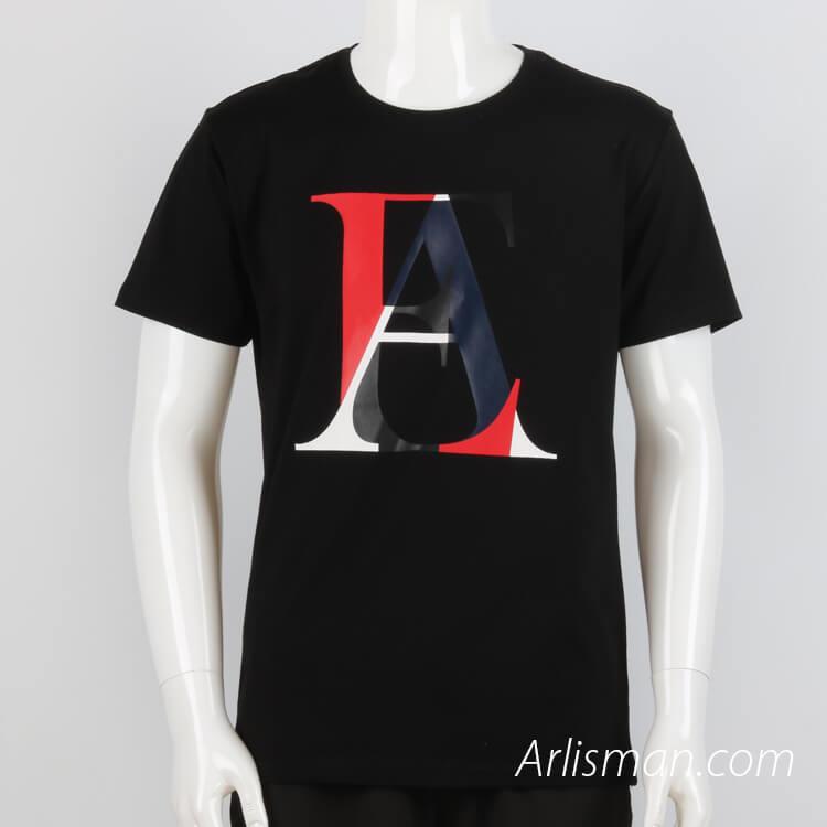 Rubber printing t-shirt for men