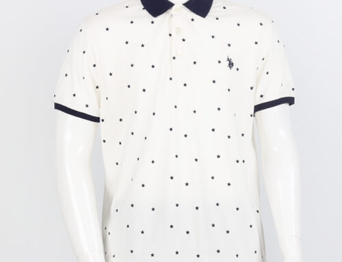 All Over Stars Print POLO – (Embroidery)