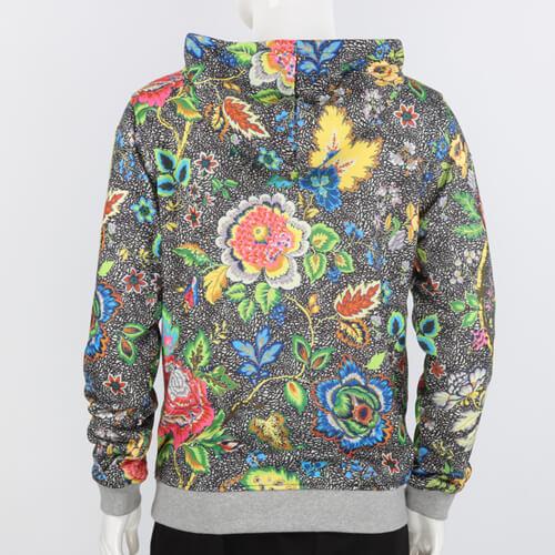 Chinese Flower Print Hoodie
