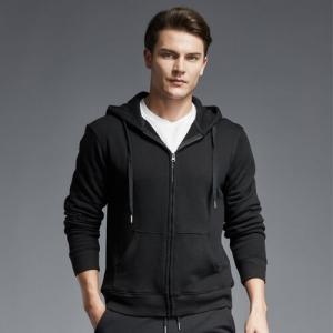black zipper hoodie