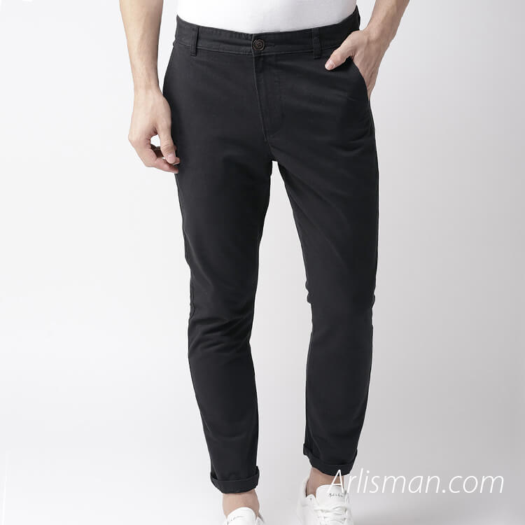 Black casual-pants