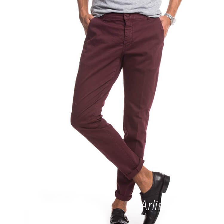 Red Casual-pants