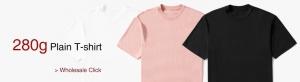 280g plain t-shirt- wholesale