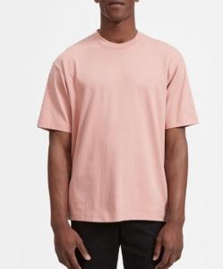 Pink 280g men's plain t-shirt