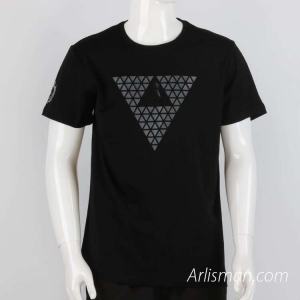 Black tees with printed