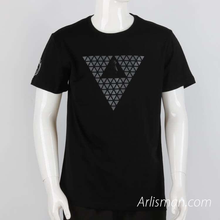 Black tees with printed