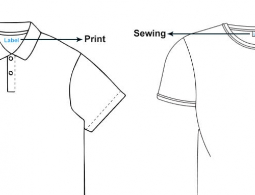 Why suggested to use printed marks but not sewing labels to the clothes?