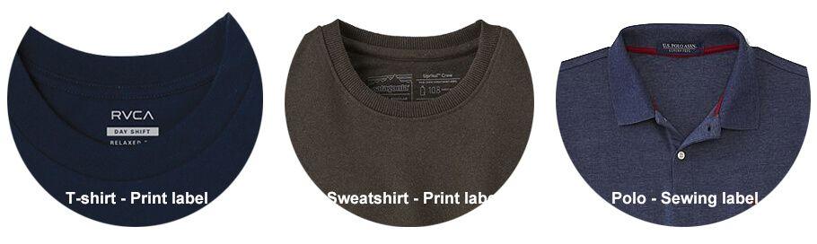 Printed Label or Sewig Label